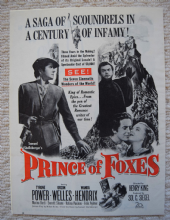 Prince of Foxes (1949) - Tyrone Power | Vintage Trade Ad Style B